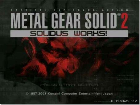 Metal Gear Solid 2 - theprohack.com
