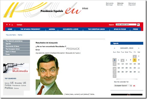 Spanish Prime Ministers Website Defaced - rdhacker.blogspot.com