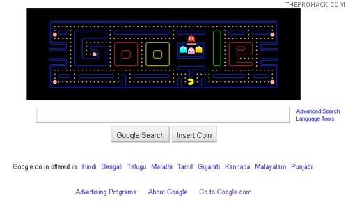 Google Celebrates Pacman – The Best Google Doodle Ever :) -  - theprohack.com