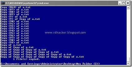 Open Command prompt and make a super copy