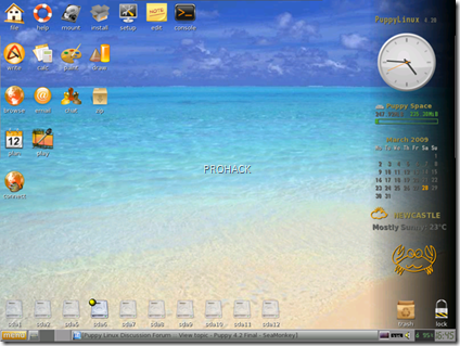 Puppy Linux Desktop..- rdhacker.blogspot.com