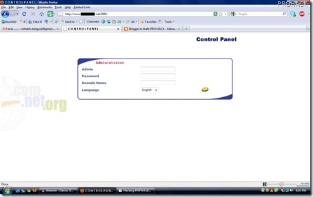 You will login with port 2000 into website - rdhacker.blogspot.com