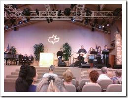 The worship team at CC Costa Mesa