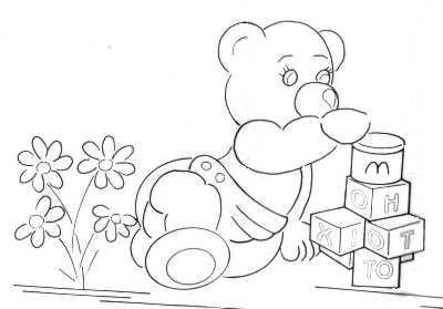 Cute teddy bear pictures for colouring in Many pictures