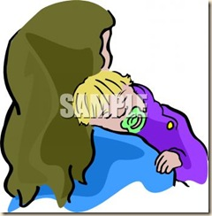 0511-1003-1921-4137_Baby_Sleeping_on_His_Mothers_Shoulder_clipart_image