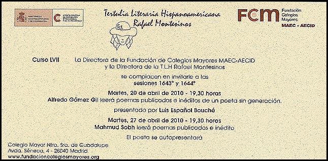 Sesiones 1643ª y 1644ª. Alfredo Gómez Gil y Mahmud Sobh.