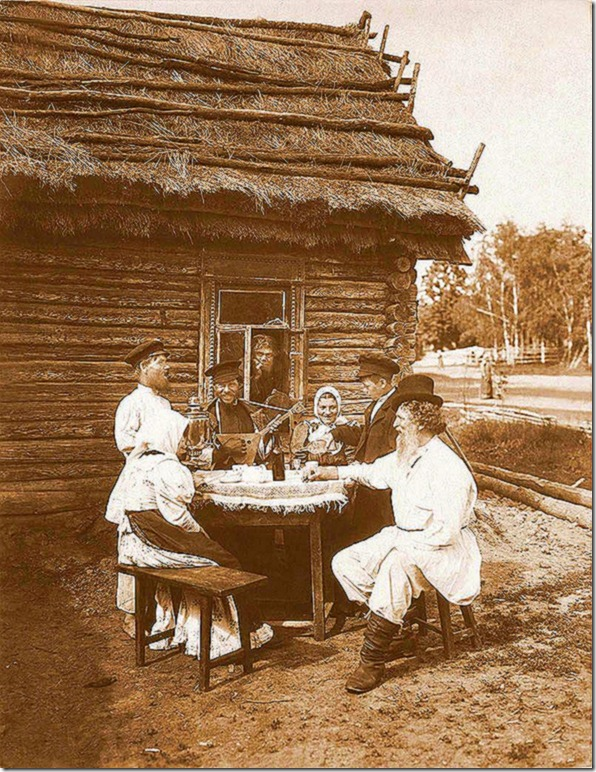 Picture taken somewhere in the periphery of the Russian Empire. Early 20th century.