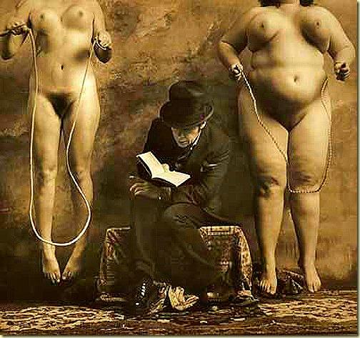 Jan Saudek, The Reader of Dostoevsky, 2000