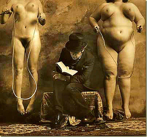 Jan Saudek, The Reader of Dostoevsky, 2000