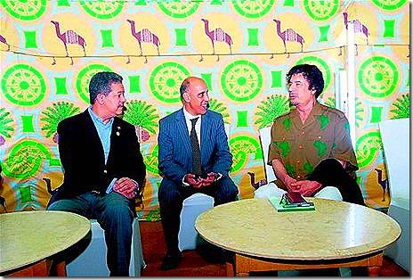 GADDAFI_Leonel se reunió con Gadafi en libia