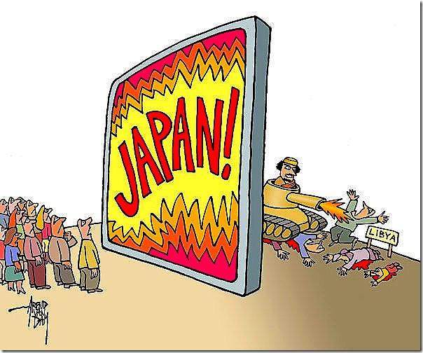 Focus on Japan, killing in Libya BY AREND VAN DAM