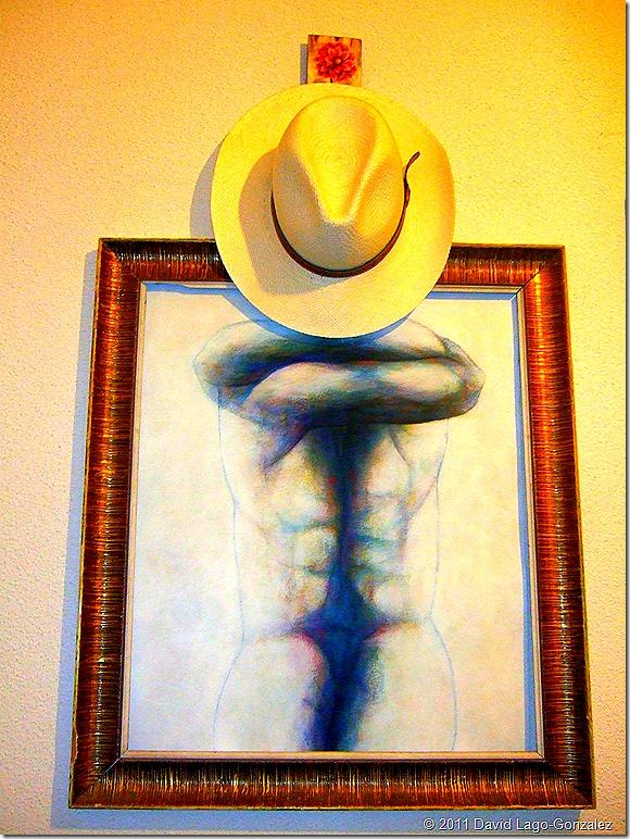 Lugo, con sombrero de Panamá