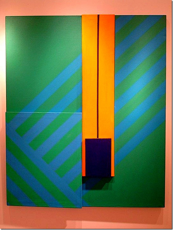 Waldo Balart. Juxtaposition X, 1964. Acrylic on linen, 61 x 50 inches