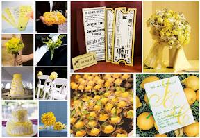 Inspiration%20Board%20 %20Amarelo Baú de ideias: Decoração de casamento amarelo