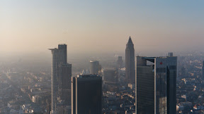 Main Tower, Frankfurt - view from observation platform on 56th floor (the roof!), 200m/656ft