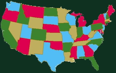 Maps Us Map Colors - Map of the us with 4 colors