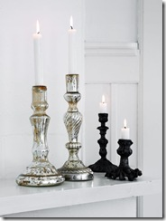 Nordic House Glass Candlesticks