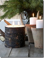 Nordic House Bark Candle