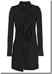 Valentino Ruffled Wool Coat