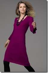 Frill Sleeve Knitted Dress