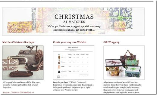 Matches Fashion Christmas Page