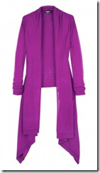 colour purple cardigan
