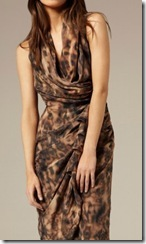 all saints leopard dress on model