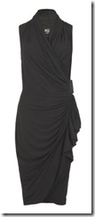 all saints black wrap dress