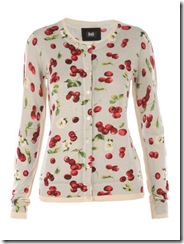 cherry print cardigan