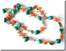 maia turquoise and carnelian necklace