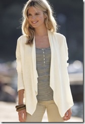Pure ivory linen cardigan