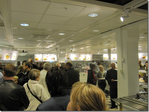 The IKEA restaurant, the most popular part of the store