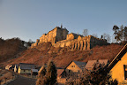 Slunečné povánoční ráno na hradě Českém Štemberku