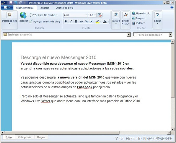 WIndows Live Writer 2010