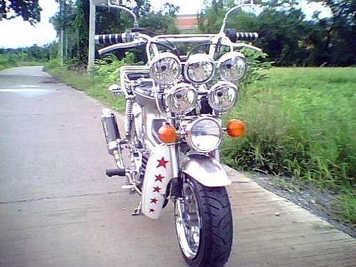 Foto Unik : Modifikasi Motor Honda Moped