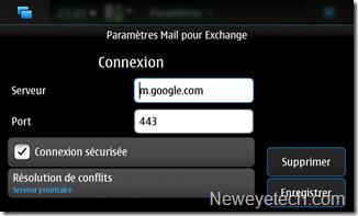 Paramètres serveur Google