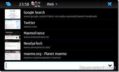 Navigateur internet N900