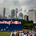 Red Bull FMX Rider, Ronnie Renner, breaks a Guinness World Record of highest air off a quarterpipe by reaching a hight of 63'5'' at Butler Field in Chicago.