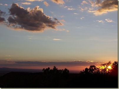 12 Sunset over canyon from Crazy Jug Point Kaibab NF AZ