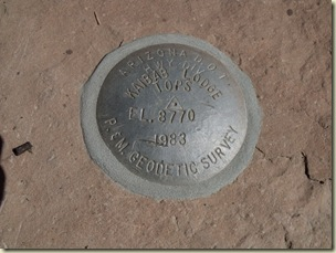01 Kaibab Lodge Geodetic Survey marker Kaibab NF AZ