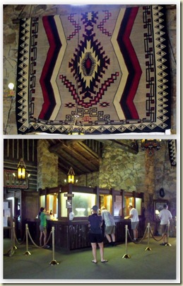 03 Main lobby & Navajo rug Grand Lodge NR GRCA NP AZ (653x1024)