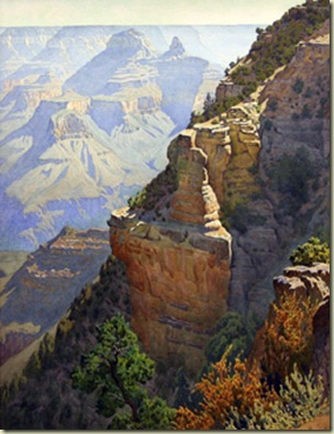 11 On the Trail to Granduer Point by G Widforss NR GRCA NP AZ 1930s