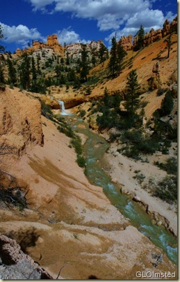04The Ditch waterfall along Mossy Cave trail Bryce Canyon NP UT pano (653x1024)