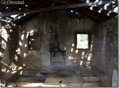 Inside Ruins of all-in-one post office, church & community  building until early 1900s Placerita Arizona
