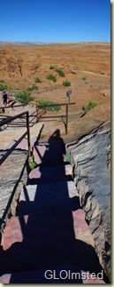 05 Gaelyn's shadow on trail at Dam View Page AZ pano (315x800)