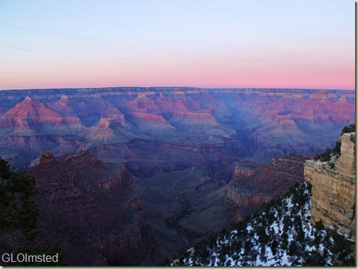 10 Sunset over Indian Garden, Plateau Point & NR from Bright Angel trail GRCA NP AZ (1024x768)