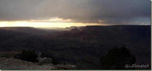 Sunset over canyon & Colorado River Lippan Point South Rim Grand Canyon National Park Arizona