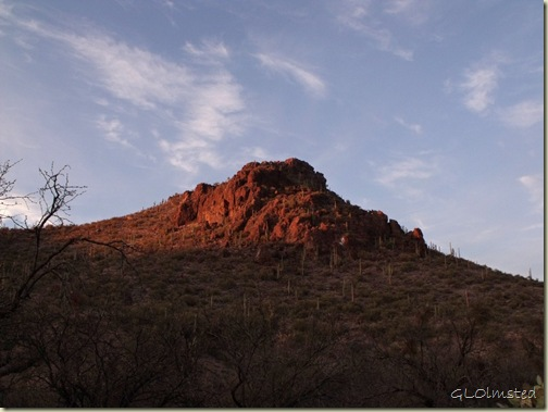 First light from camp Colossal Cave Mountain Park Vail Arizona