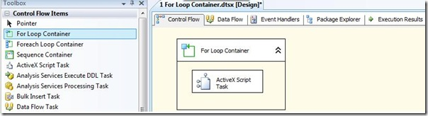 SSIS For Loop Container