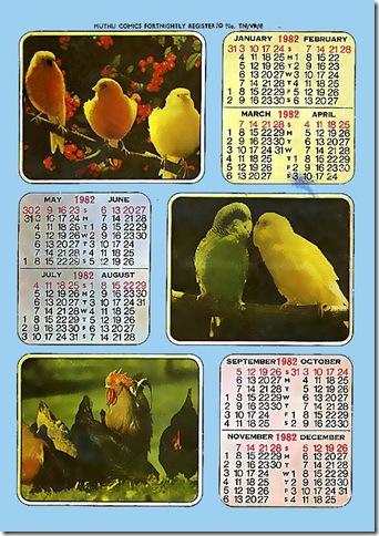 Muthu Comics # 132 - Thavalai Manidhargal - Calendar